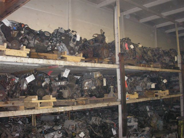 Engines in the warehouse